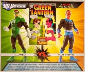 Hal Jordan and Thaal Sinestro Package Back
