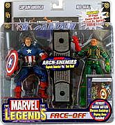 Toy Biz Marvel Legends Face Off - Captain America versus Baron Strucker