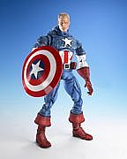 Toy Biz Marvel Legends Icons - Captain America - Unmasked Variant