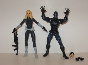 Sharon Carter and Stealth Iron Man