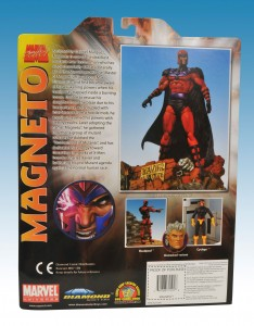 Marvel Select Magneto Package Back