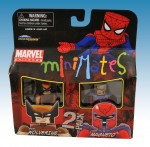 TRU Marvel Minimates Series Nine Brown Wolverine and Magneto