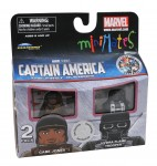 TRU Captain America Movie Minimates Gabe Jones and HYDRA Flame Trooper