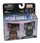 TRU Captain America Movie Minimates Gabe Jones and HYDRA Flame Trooper