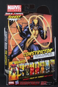 Return of Marvel Legends Wave One Constrictor Package Back