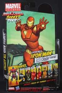 Return of Marvel Legends Wave One Extremis Iron Man Package Back